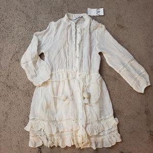 BNWT Zara Knee level dress pom pom
